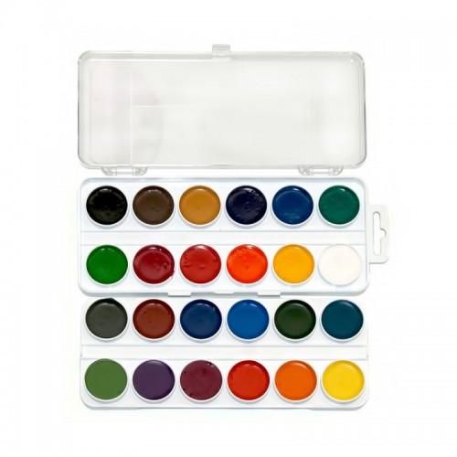 Tsvetik ,Watercolour Set 24 Colours In Plastic
