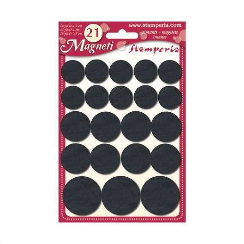 18 Adhesive Magnets Diam Cm. 1,9