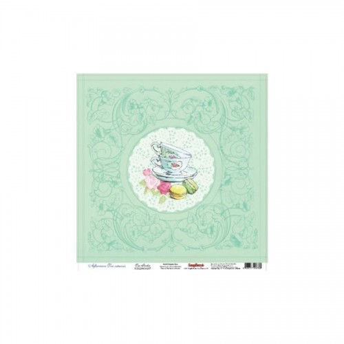 "One-Sided Paper 12""*12"" 180Gsm  Afternoon Tea"
