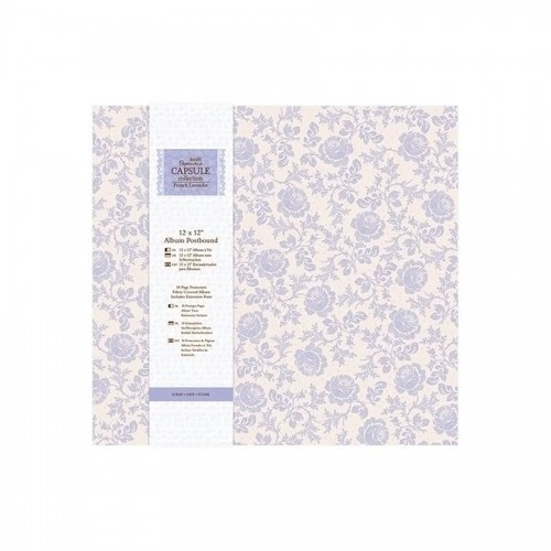 "12 X 12"" Album Postbound (10 Page Protectors) -French Lavender"
