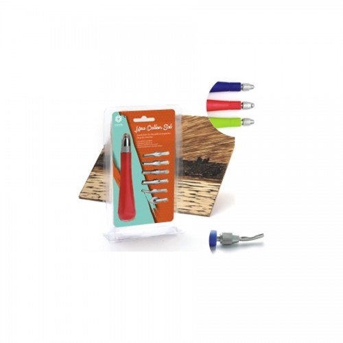 Lino Cutter Set One Plastic Handle With 6 Differen