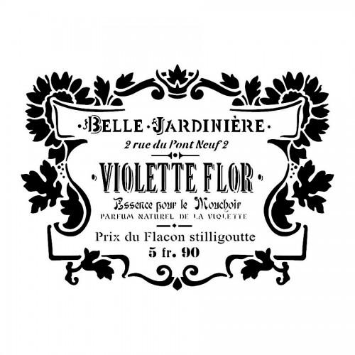 Stencil H Cm 44X60 Violette Flor