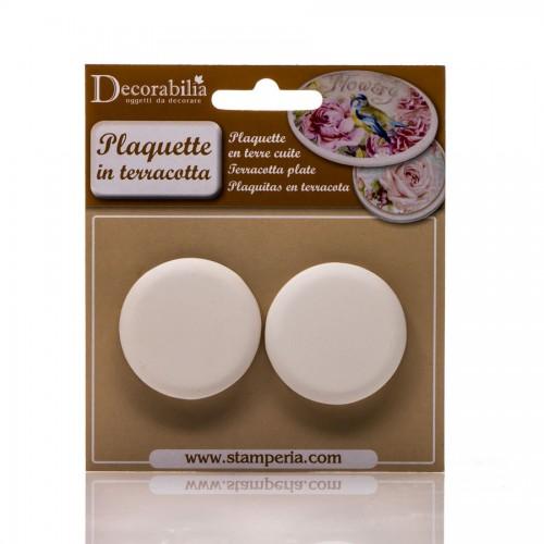 Plaquette Round Small Diam Cm 4,5 - 2 Pcs