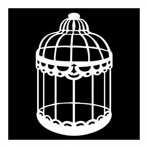Double Stencil A Cm10X10 Cage