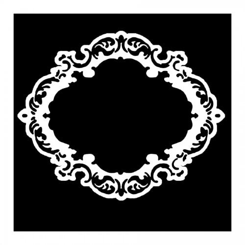 Double Stencil A Cm10X10 Rectangular Frame