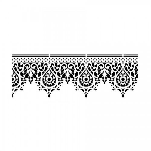Stencil B Cm38X15 Lace