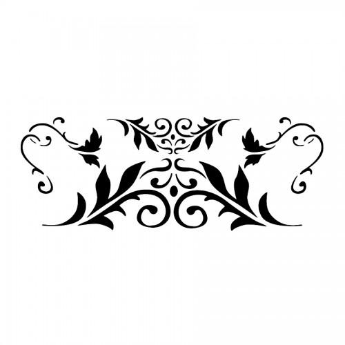 Stencil B Cm38X15 Leaf