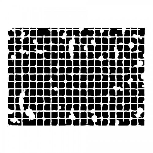 Stencil D Cm20X15  Texture Big Square