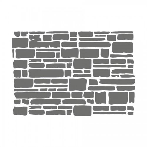 Stencil D Cm20X15  Texture Brick
