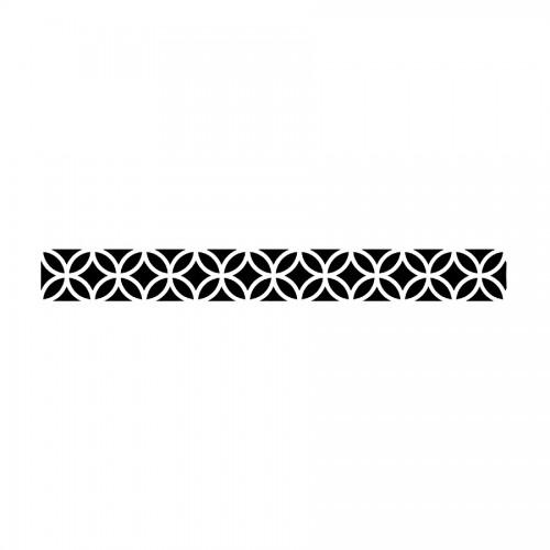 Stencil E Cm 60X7 Texture Circles And Rhombus
