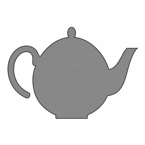 Stable Design Stencil, Self-Adhesive Teapot, 7 X 1