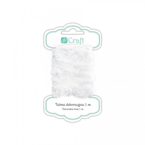 Decorative Ribbon, 1M - White