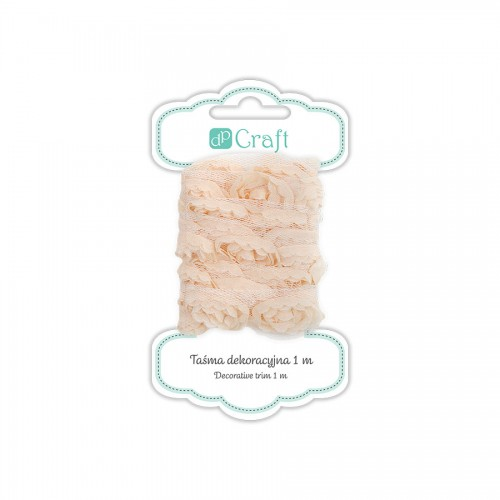 Decorative Ribbon, 1M - Cream