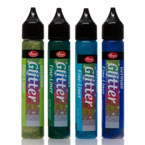 German Glitter 28Ml 4Pcs Set - Grading Iii