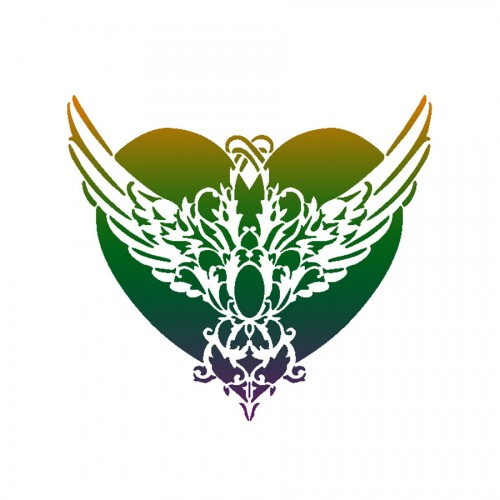 """All-Purpose Stencil A3 """"Vikctorian Heart"""""""