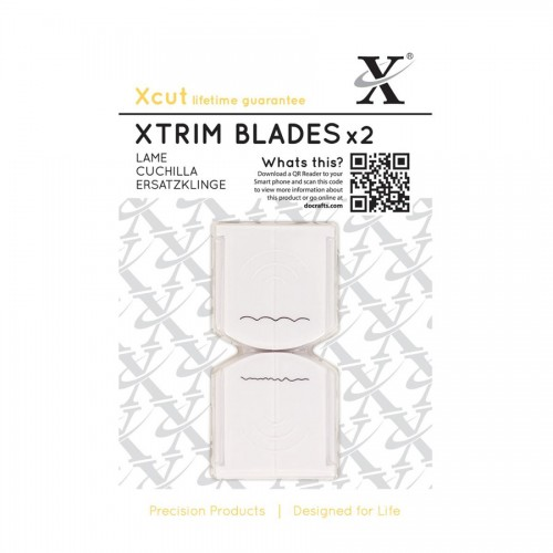 "13"" Xtrim Replacement Blades (2pcs) Deckle & Scall"