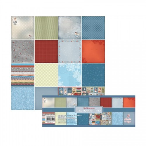 Paper and Cardstock pads 30x30cm, Once Upon A Winter  Eng 180Gms
