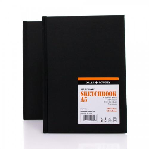 Sketchbook GRADUATE, A5 ,46lh,130g/m Daler-Rowney