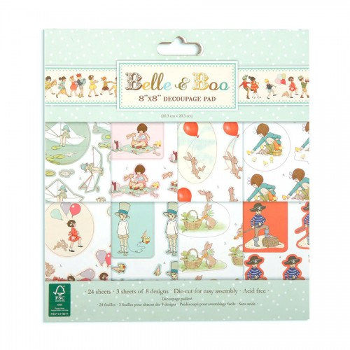 Belle And Boo Decoupage Pad