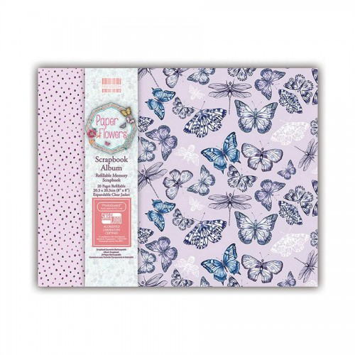 First Edition 8X8 Paper Flowers Scrapbook Album