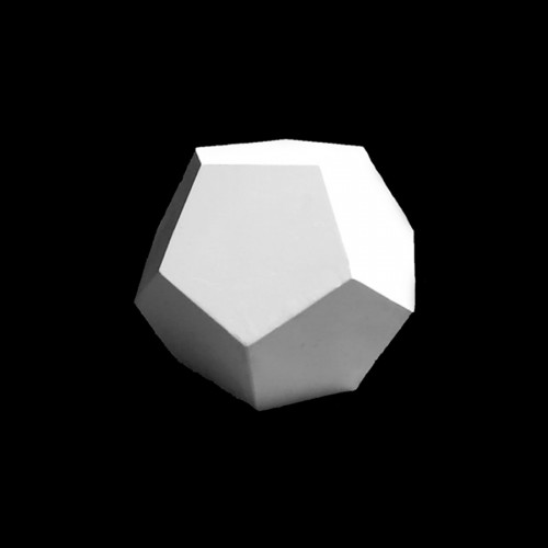 Plaster Dodecahedron