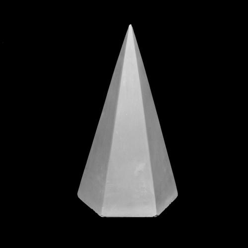 Plaster Cast Hexagonal Pyramid