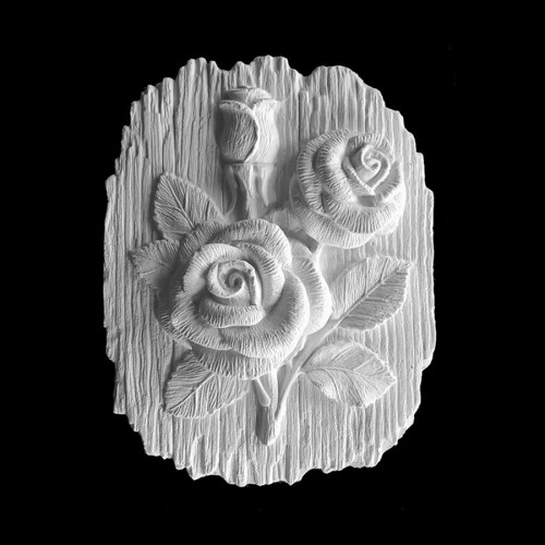 Plaster Modell For Painting With Hanger Roses