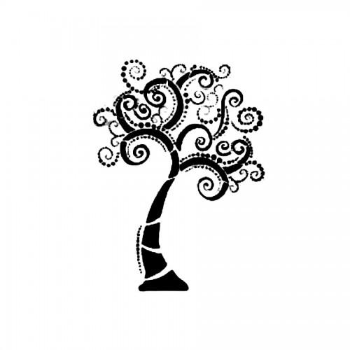 Stencil H Cm. 44X60 Tree - 4 Modules