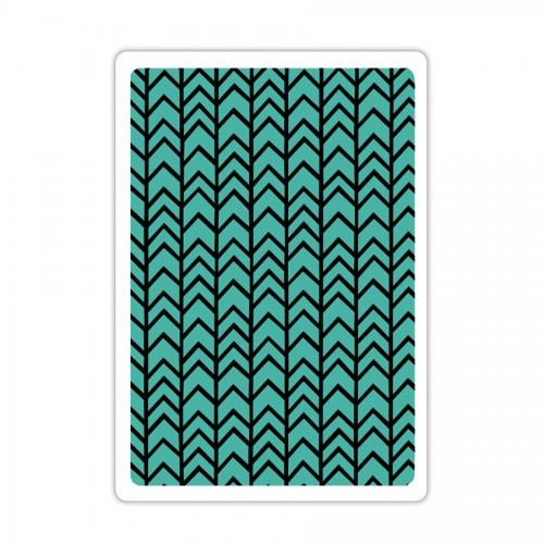 -50% Textured Impressions Embossing Folder - Chevron Te
