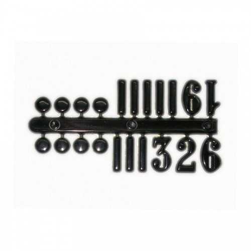 Numerals For The Clock H 15Mm,Black