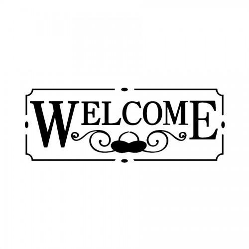 Stencil B Cm. 38X15 Welcome