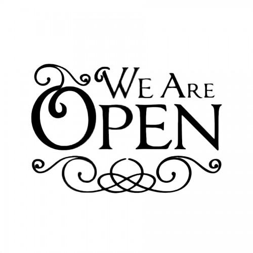 Stencil D Cm.20X15 We Are Open
