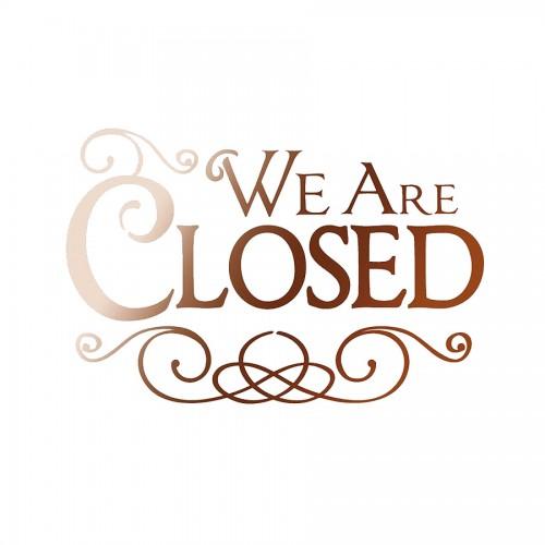 Stencil D Cm.20X15 We Are Closed