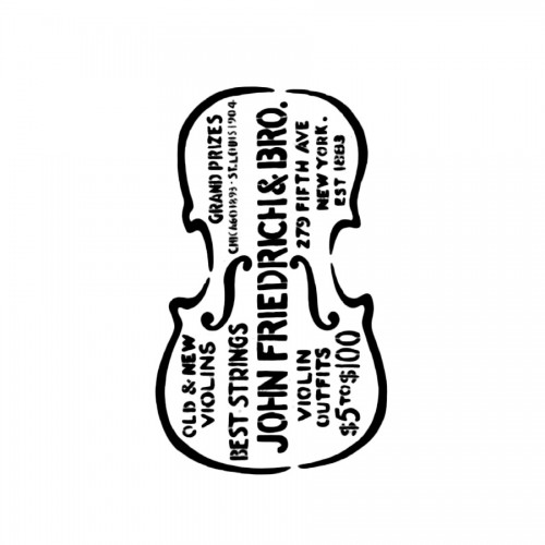 Stencil G Cm.21X29,7 Violin And Writings