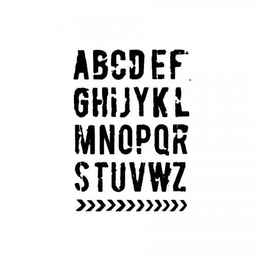 Stencil G Cm.21X29,7 Alphabet
