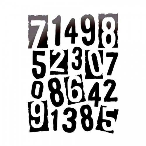 Thick Stencil Cm. 20X25/0,2Mm Numbers