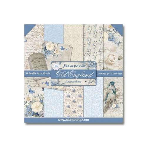 Paper and Cardstock pads 30x30cm, Stamperia, Old England