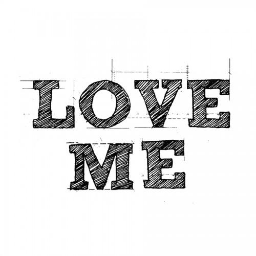 Acrylic Stamp Cm. 5X7 Love Me