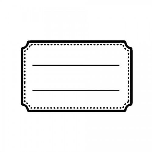 Acrylic Stamp Cm. 7X11 Tag