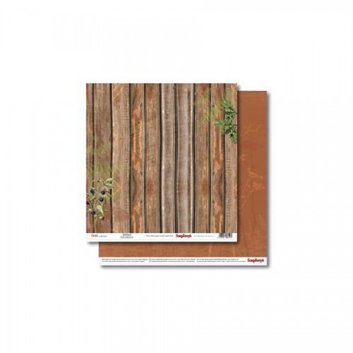 Double-Sided Paper 12X12 Forest Brushwood 190Gsm
