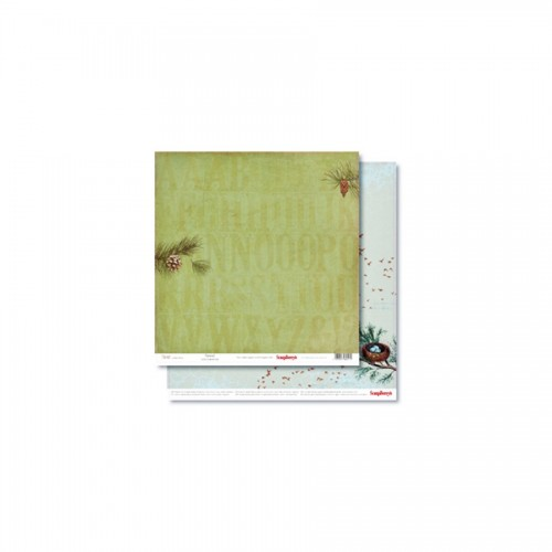 Double-Sided Paper 12X12  Forest Pinewood 190Gsm
