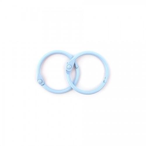 Album Metal Rings 25Mm Blue, 2Pcs