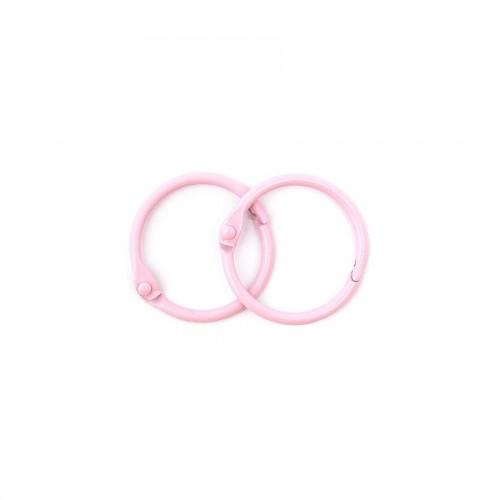 Album Metal Rings 20Mm Pink, 2Pcs