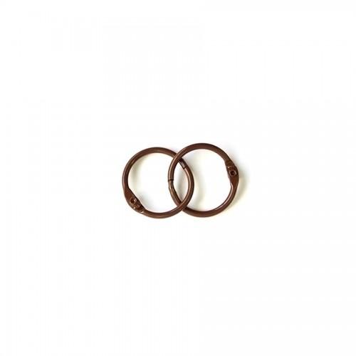 Album Metal Rings 20Mm Brown, 2Pcs