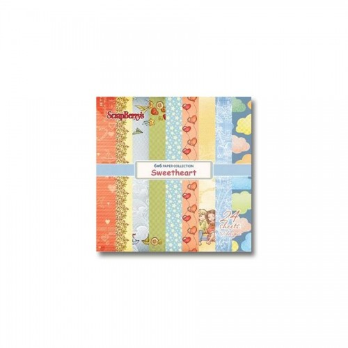 Paper and Cardstock pads 15x15cm, Sweetheart 170Gsm 24 Sh.