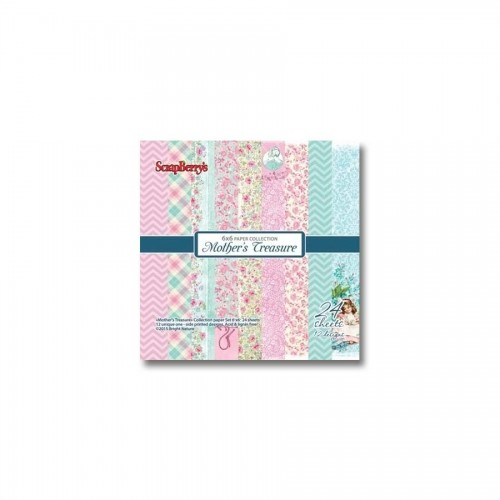 Paper and Cardstock pads 15x15cm, Mother'S Treasure 190Gsm 24 Sh.