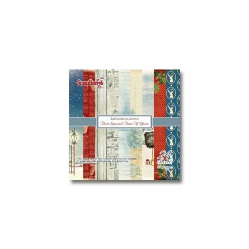 Paper and Cardstock pads 15x15cm,That Special Time Of Year 190Gsm 24Sh.