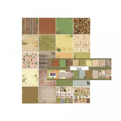 Paper and Cardstock pads 30x30cm, Forest 190Gsm 11 Sh.