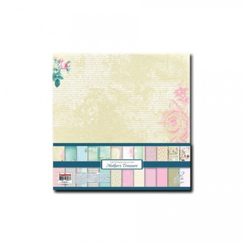 Paper and Cardstock pads 30x30cm, Mother'S Treasure 190Gsm 12 Sheet