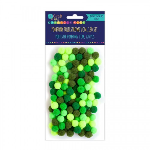 Acrylic  Pom Poms,120Pcs,Mix  Green